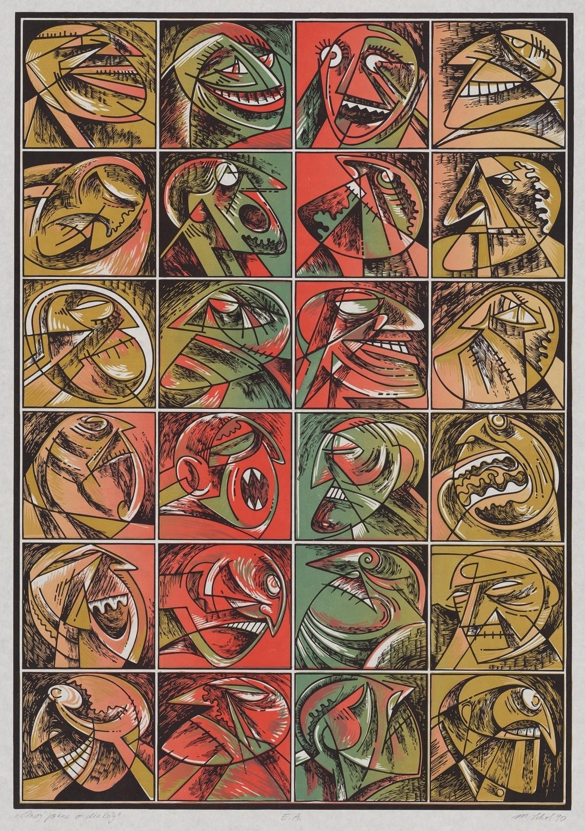 Milan Sokol, Prvý pokus o dialóg. 1990. Stredoslovenská galéria v Banskej Bystrici