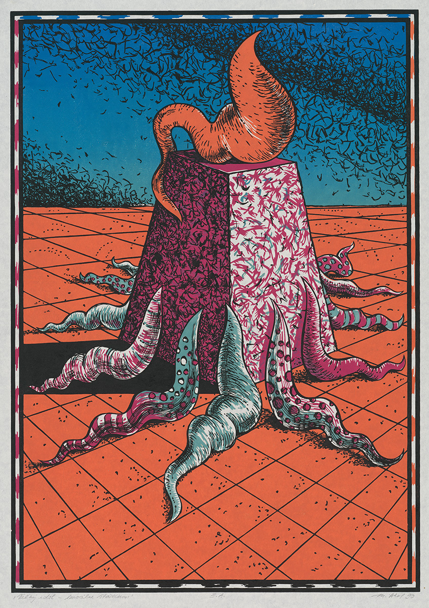 Milan Sokol, Veľký idol – larválne štádium. 1990. Stredoslovenská galéria v Banskej Bystrici