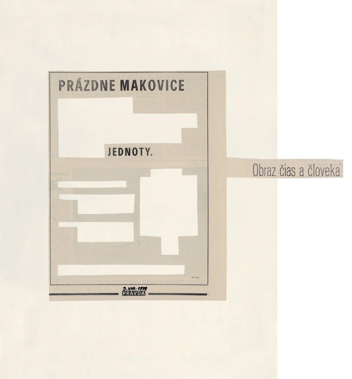Július Koller, Prázdne makovice...jednoty. 1979. Slovenská národná galéria