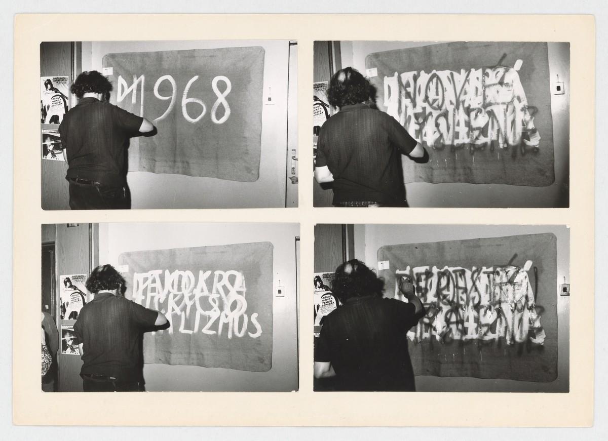 Július Koller, Nová kultúrna situácia (U.F.O.). 1988. Slovenská národná galéria