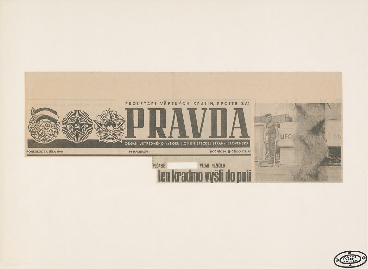 Július Koller, ...len kradmo vyšli do polí. 1979. Slovenská národná galéria