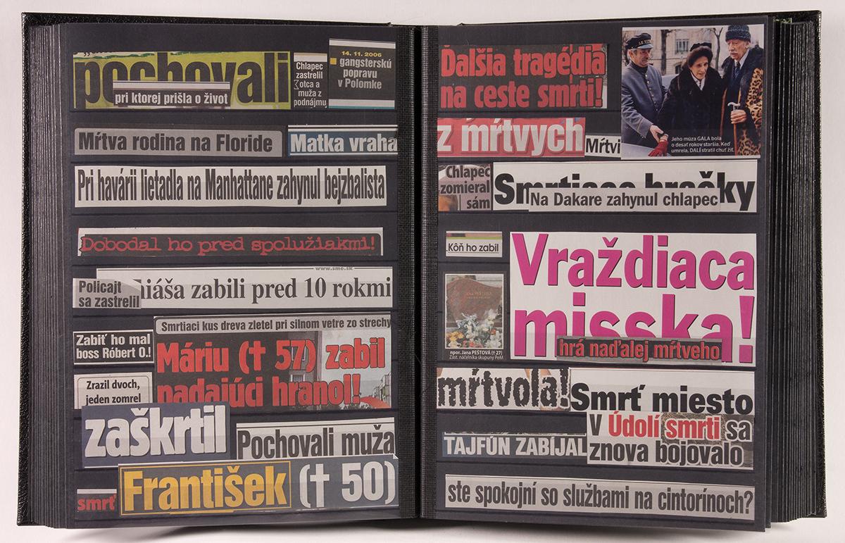 Peter Kalmus, Sedem dní zániku (Z cyklu Nekrofilatélia). 2007–2011. Slovenská národná galéria