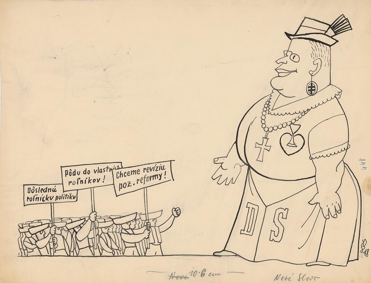 Štefan Bednár, Požiadavky roľníkov na Demokratickú stranu. 1948. Slovenská národná galéria