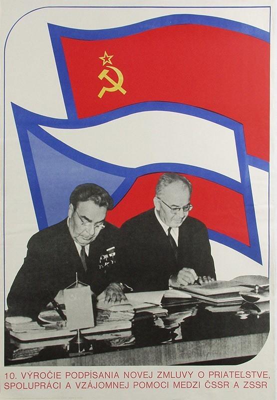 Miroslav Korčian, 10. výročie podpisu zmluvy o priateľstve. 1980. Slovenská národná galéria