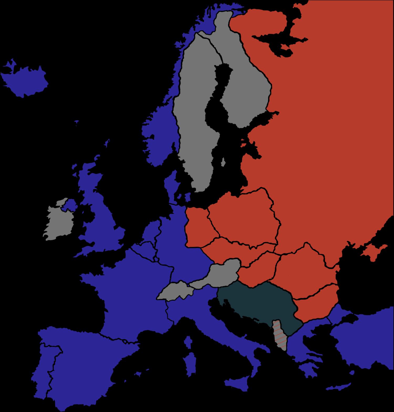 Vernes Seferovic, Mapa Železnej opony počas Studenej vojny. 2006. Wikimedia commons