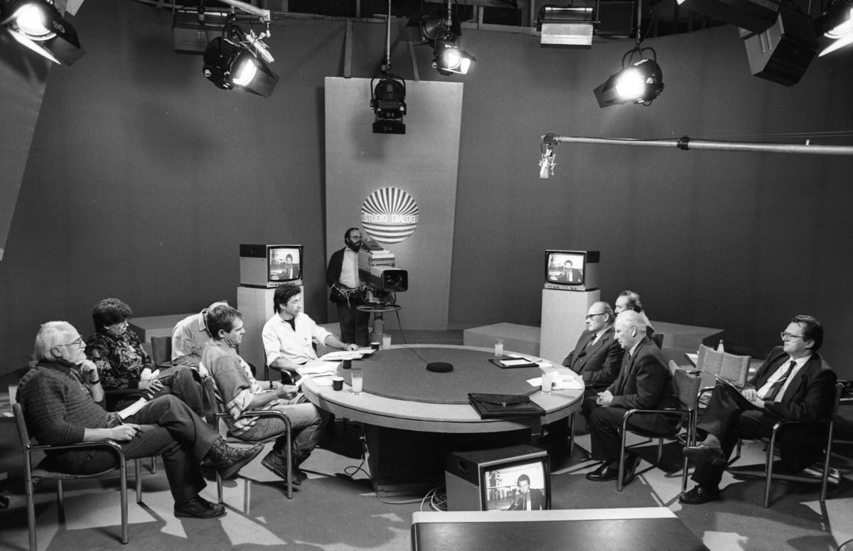 Ivan Rychlo – ČSTK, K situácii v Bratislave - TV dialóg. 1989. TASR