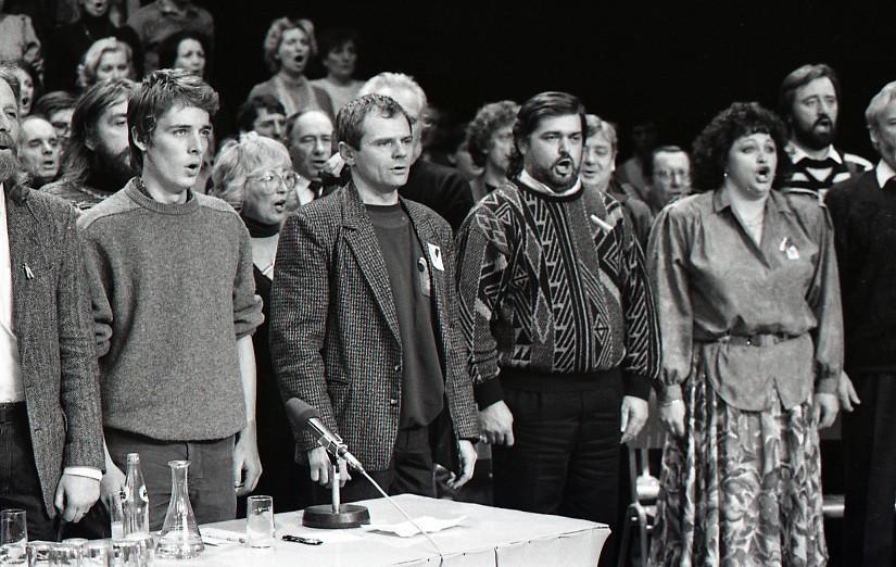 Peter Brenkus – ČSTK, Zhromaždenie v SND Bratislava. 1989. TASR