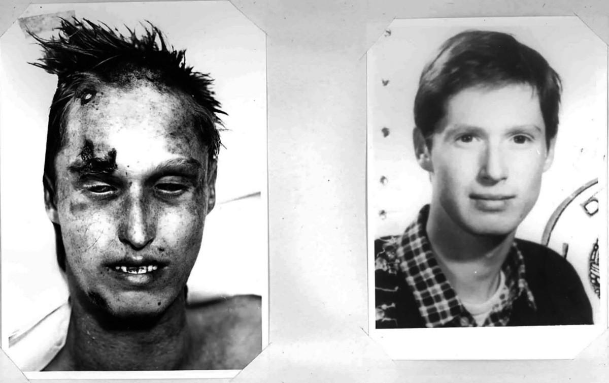 Posmrtná fotografia Hartmuta Tautza a záber z jeho osobných dokumentov. 1986. Platforma európskej pamäti a svedomia
