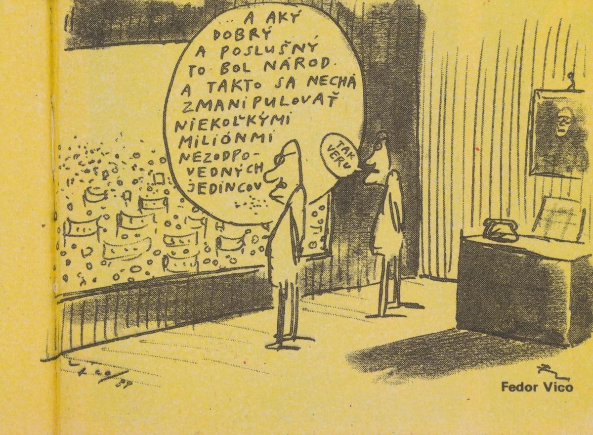 Fedor Vico, A aký dobrý a poslušný to bol národ. 1990. Časopis Roháč