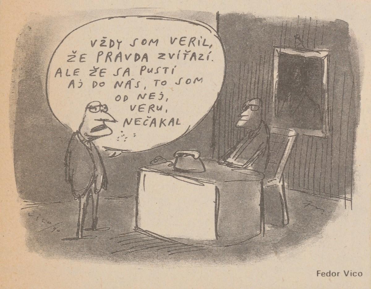 Fedor Vico, Vždy som vedel, že pravda zvíťazí. 1990. Časopis Roháč