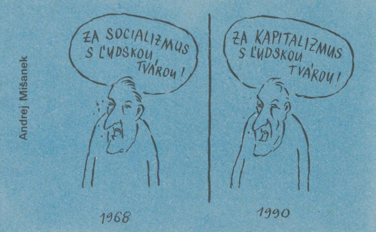Andrej Mišanek, Za socializmus s ľudskou tvárou. 1990. Časopis Roháč