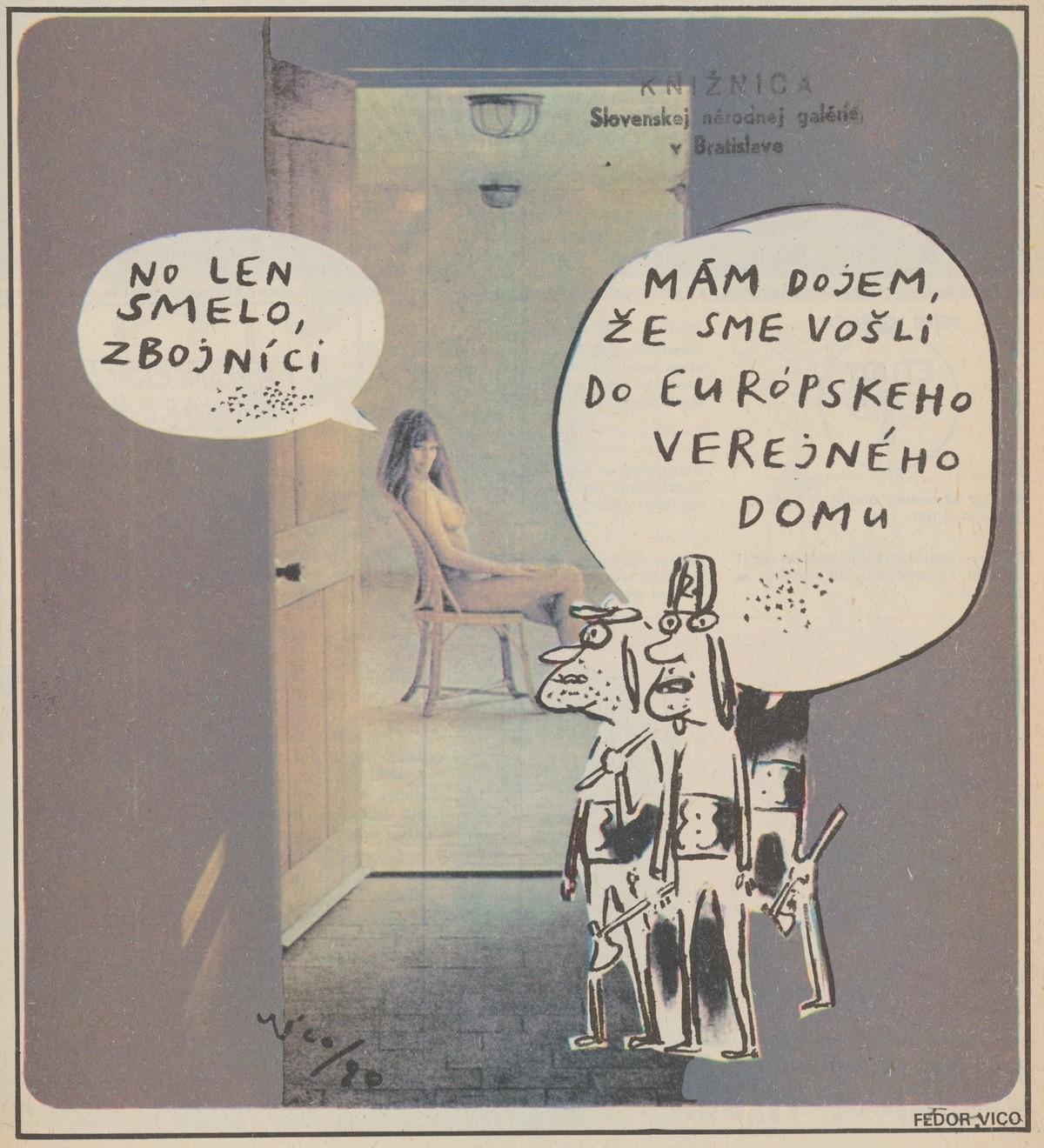 Fedor Vico, No len smelo zbojníci. 1990. Časopis Roháč