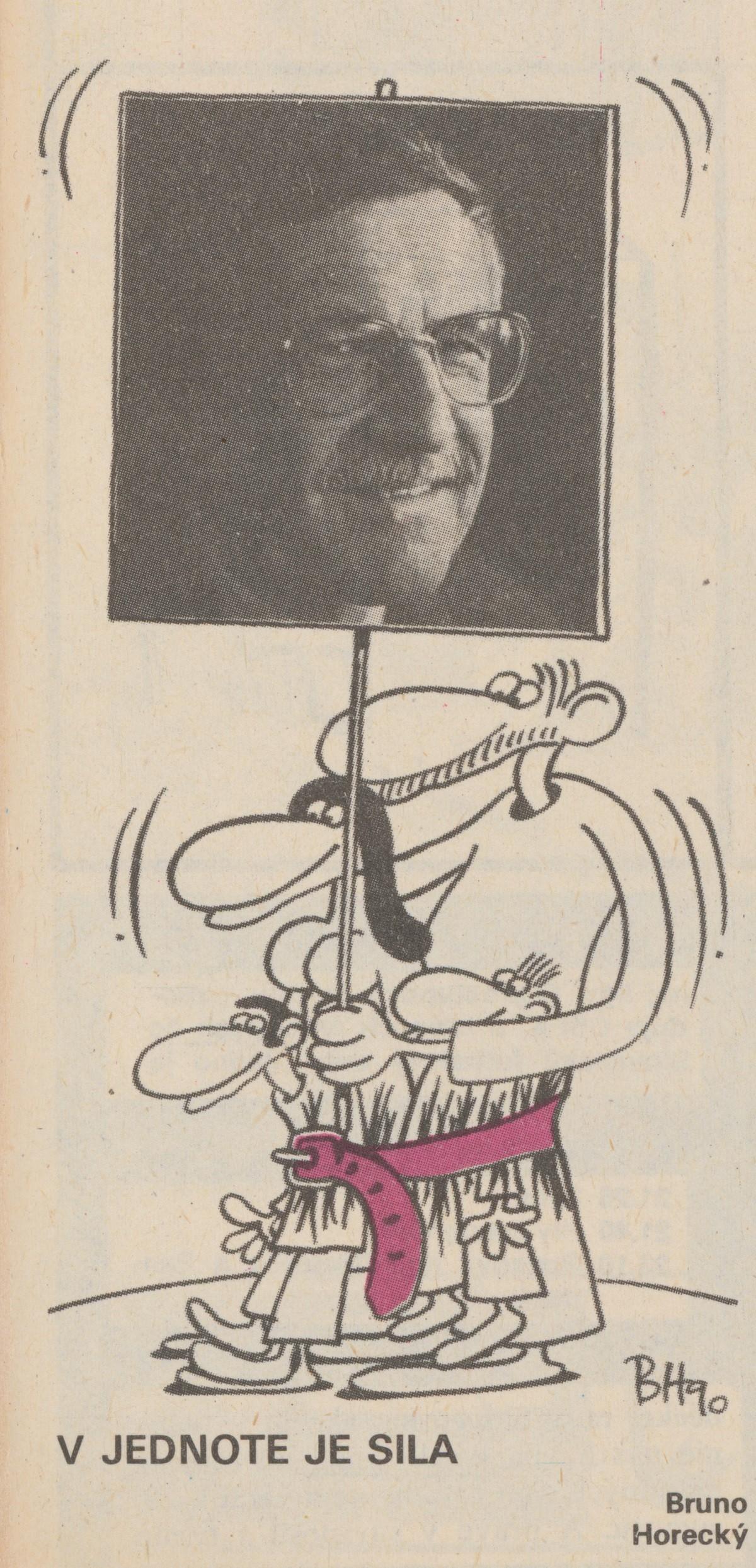 Bruno Horecký, V jednote je sila. 1990. Časopis Roháč