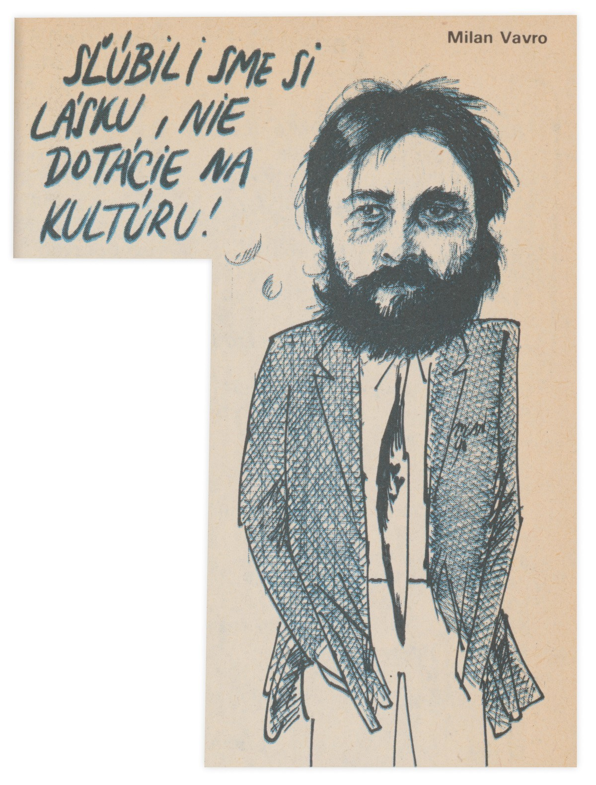 Milan Vavro, Sľúbili sme si lásku. 1990. Časopis Roháč