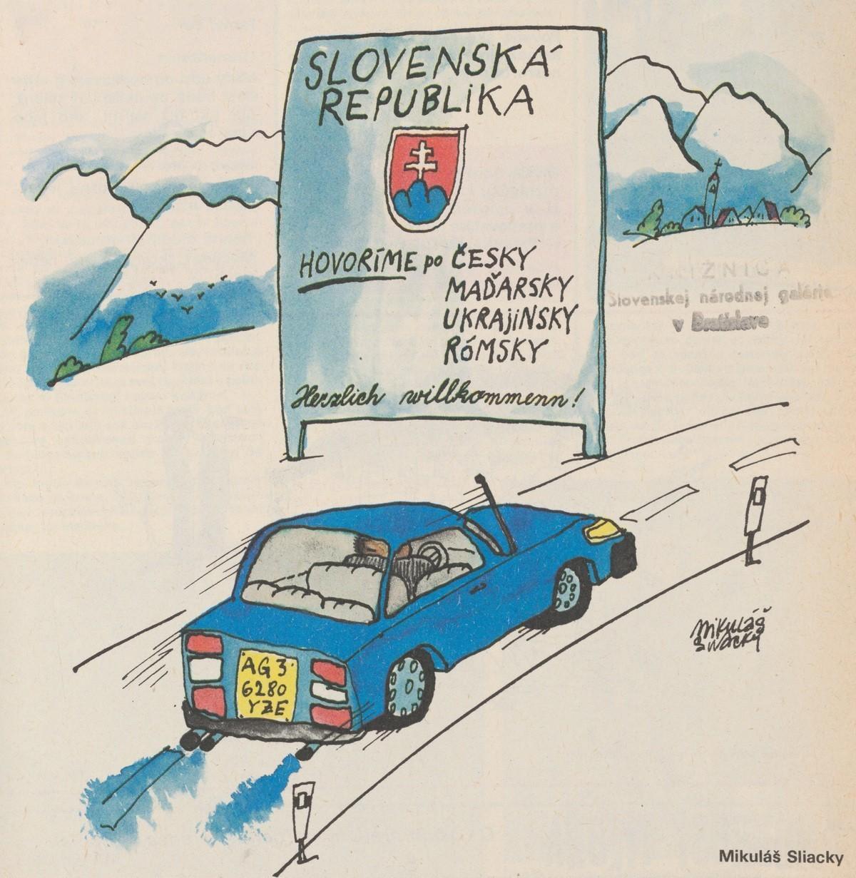 Mikuláš Sliacky, Obálka (Slovenská republika...). 1990. Časopis Roháč