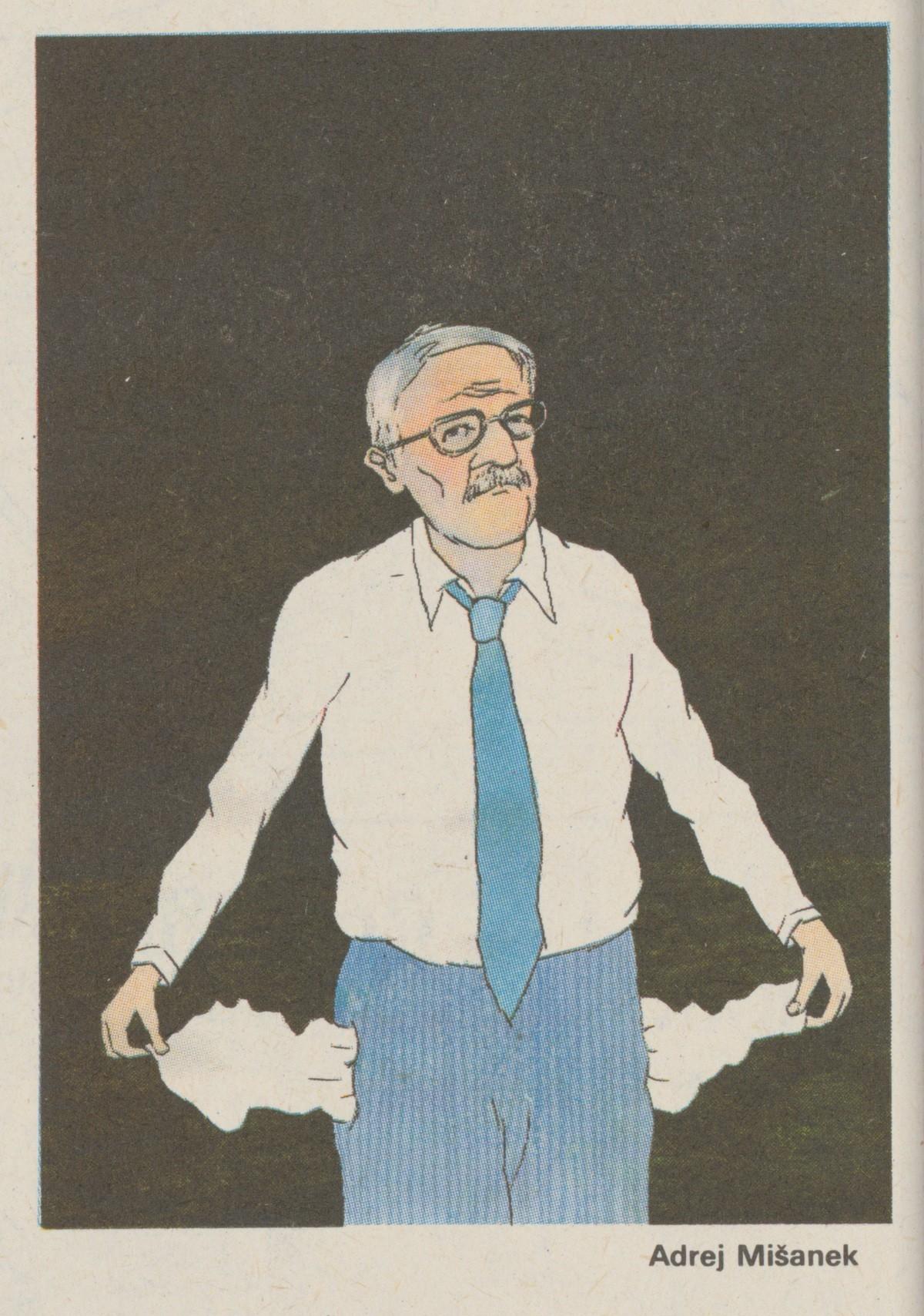 Andrej Mišanek, Klaus s vyvrátenými vreckami. 1990. Časopis Roháč