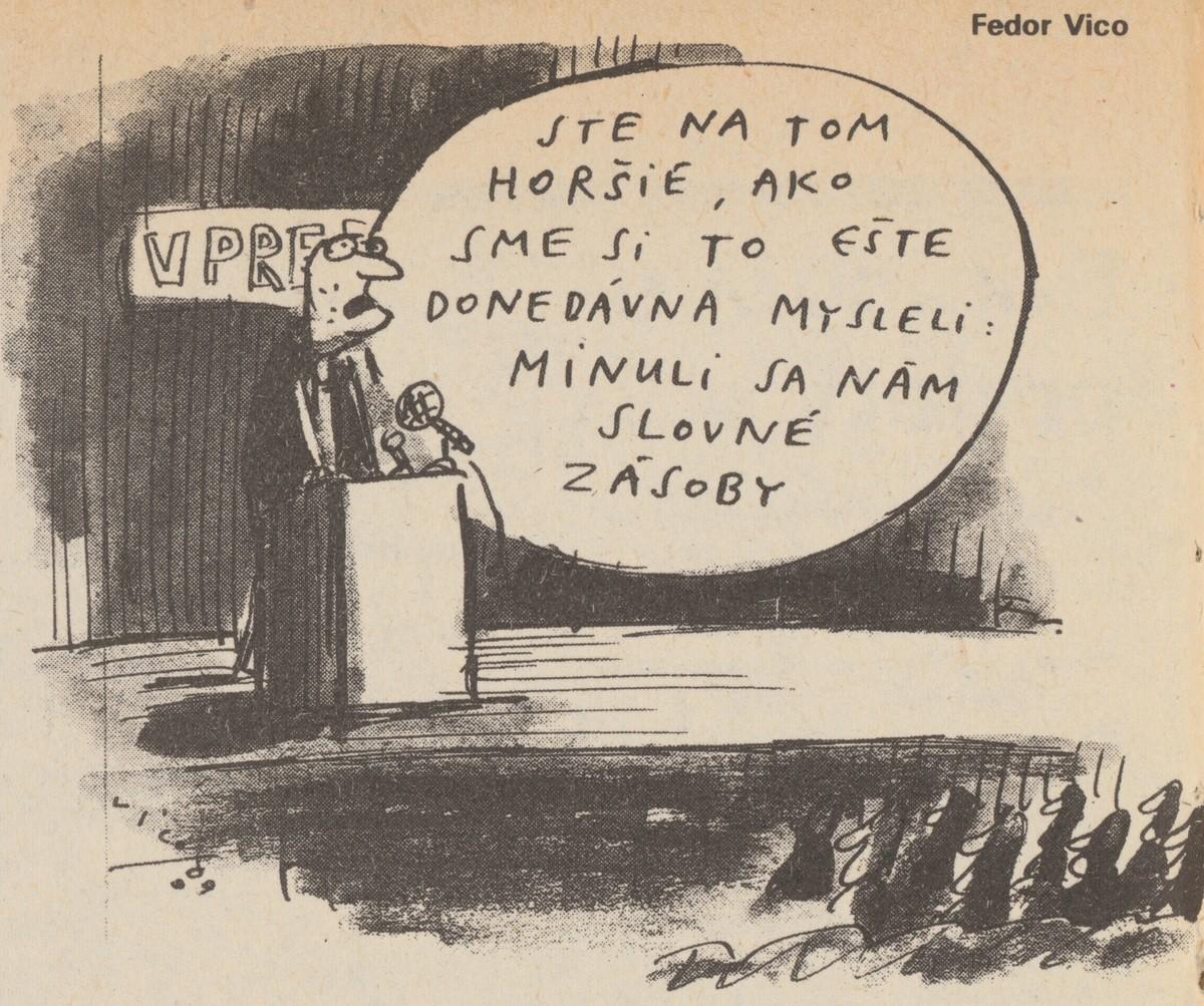 Fedor Vico, Sme na tom horšie. 1989. Časopis Roháč