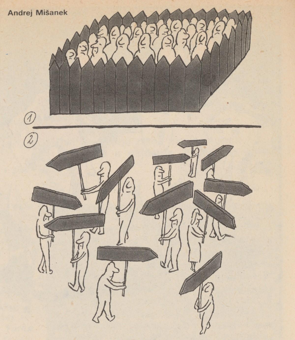 Andrej Mišanek, Ľudia spoza plotu. 1989. Časopis Roháč