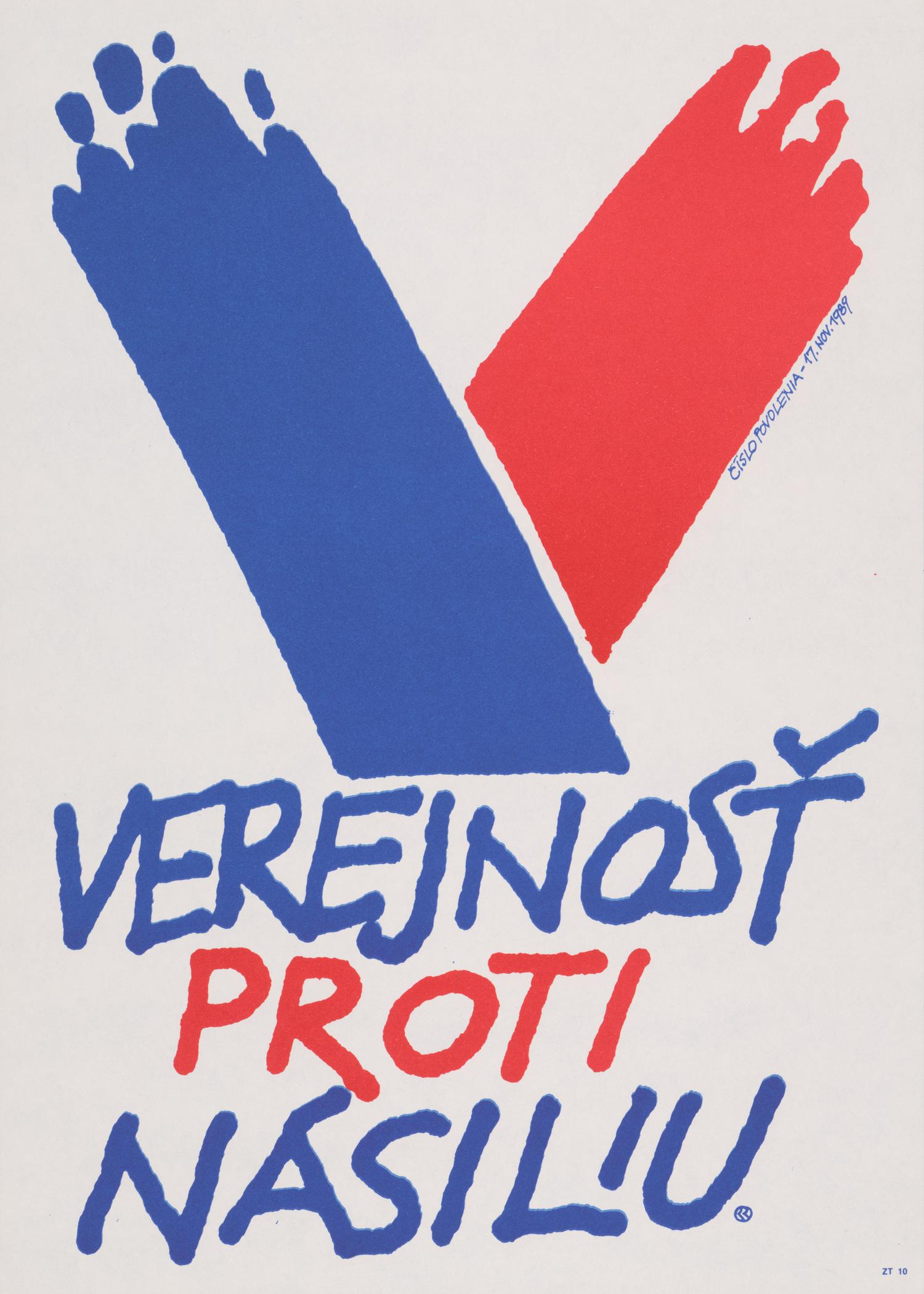 Karol Rosmány, Verejnosť proti násiliu. 1989. Slovenské múzeum dizajnu