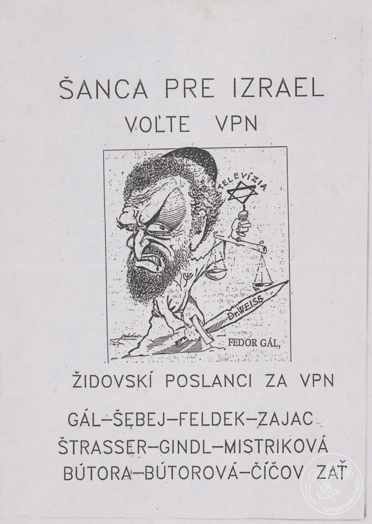 Šanca pre Izrael. Voľte VPN...!. 1989 – 1992. Slovenský národný archív