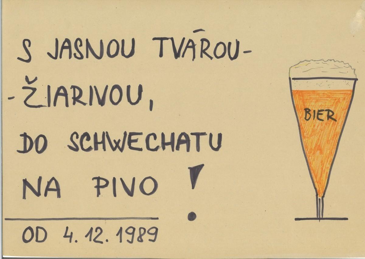 Leták, ktorý reagoval na zjednodušenie možnosti vycestovať do Rakúska od 4. 12. 1989. Slovenské národné múzeum – Historické múzeum v Bratislave
