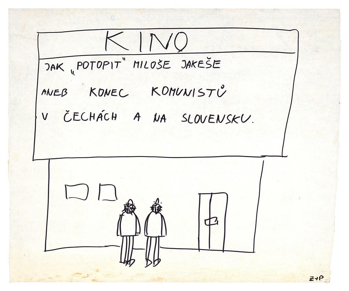 """Kino, Jak """"potopit"""" Miloše Jakeše aneb konec komunistů v Čechách a na Slovensku. 1989. Slovenské národné múzeum – Historické múzeum v Bratislave"""