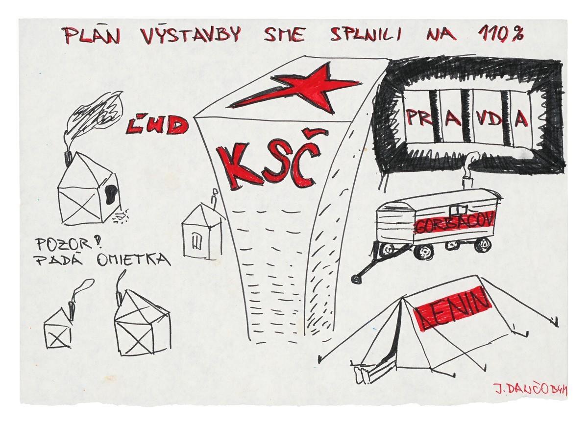 Plán výstavby sme splnili na 110%, Pozor! Padá omietka. 1989. Slovenské národné múzeum – Historické múzeum v Bratislave