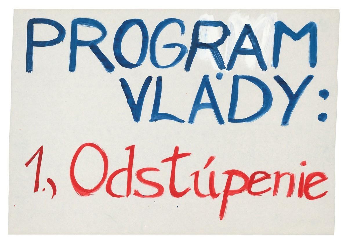 Program vlády: 1.) odstúpenie. 1989. Slovenské národné múzeum – Historické múzeum v Bratislave