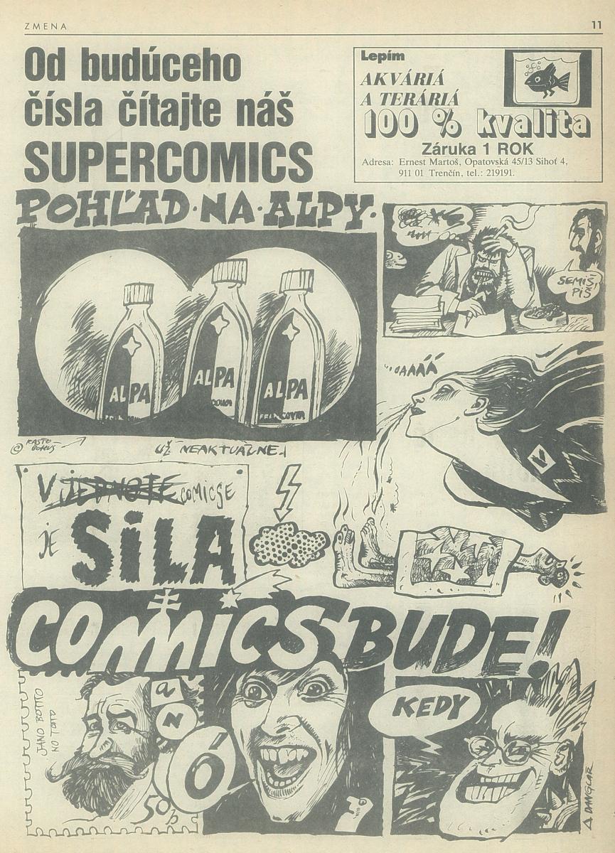 Danglár, Supercomics. 1989. Univerzitná knižnica v Bratislave